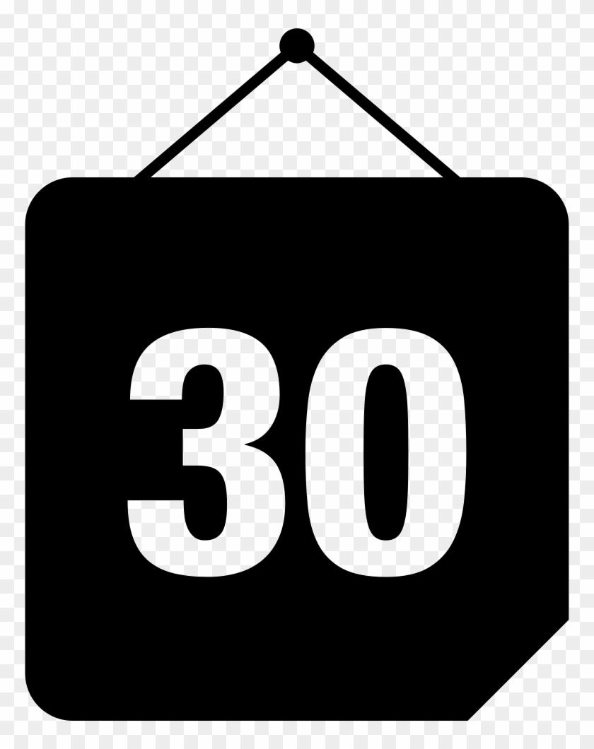 Png File Svg - 30 Days Calendar Icon, Transparent Png