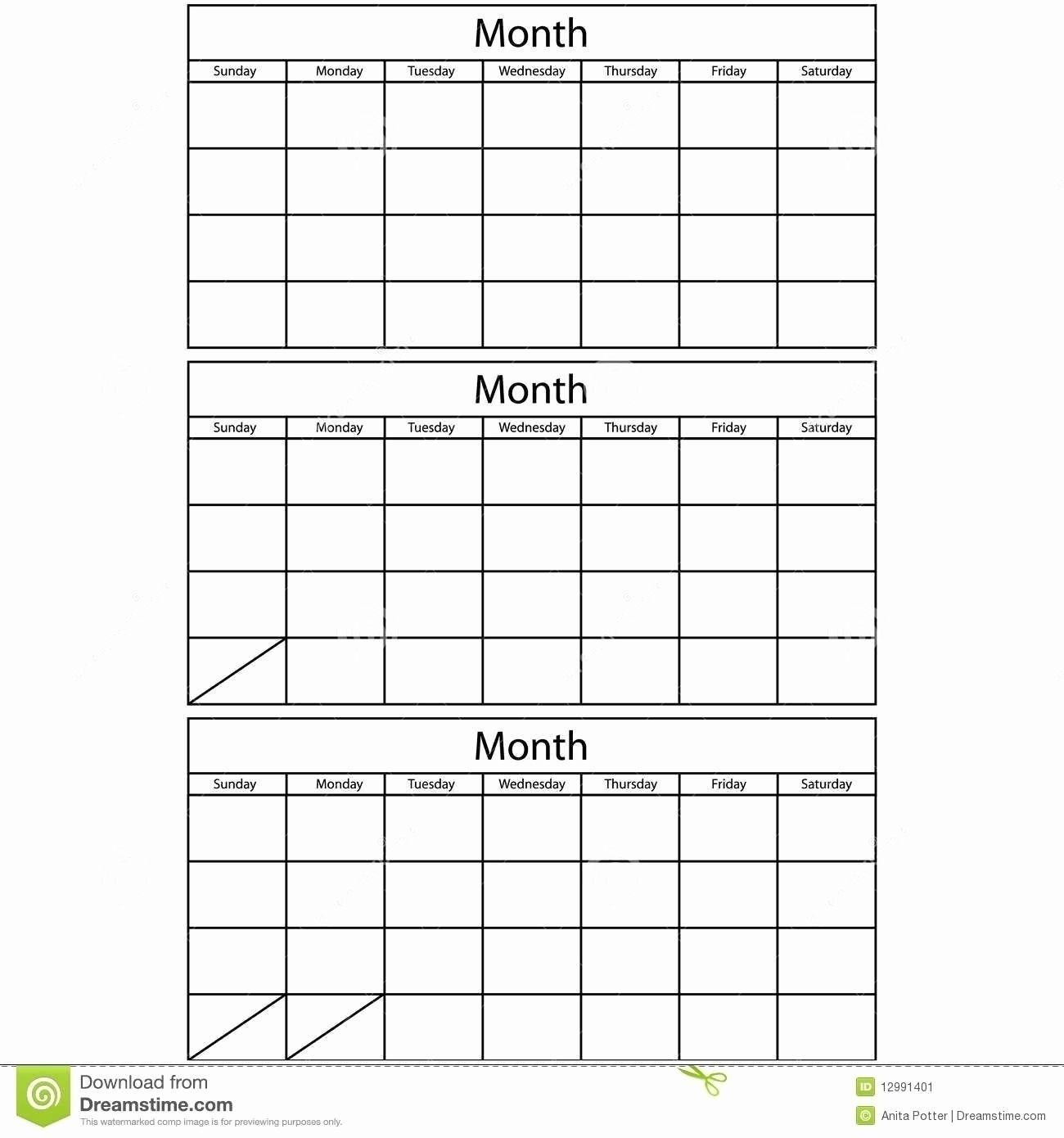 Printable 3 Month Calendar Template - Calendar Inspiration