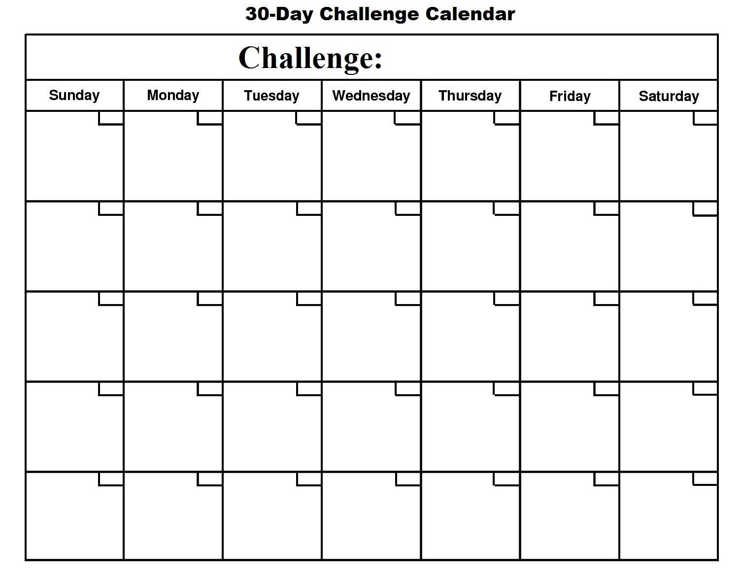 Printable 30 Day Calendar - Printable 360 Degree (With