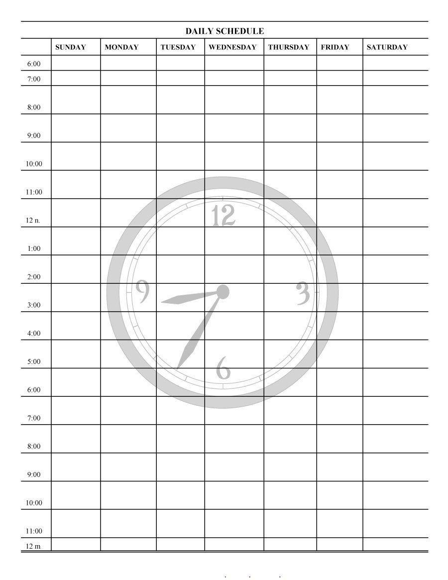 Printable Blank 31 Day Calendar | Template Calendar