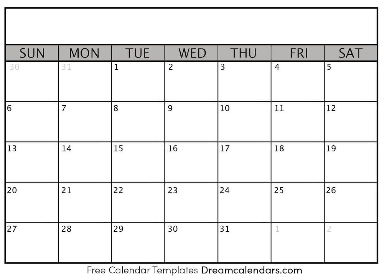 Printable Blank Calendar 2020 | Blank Calendar Template