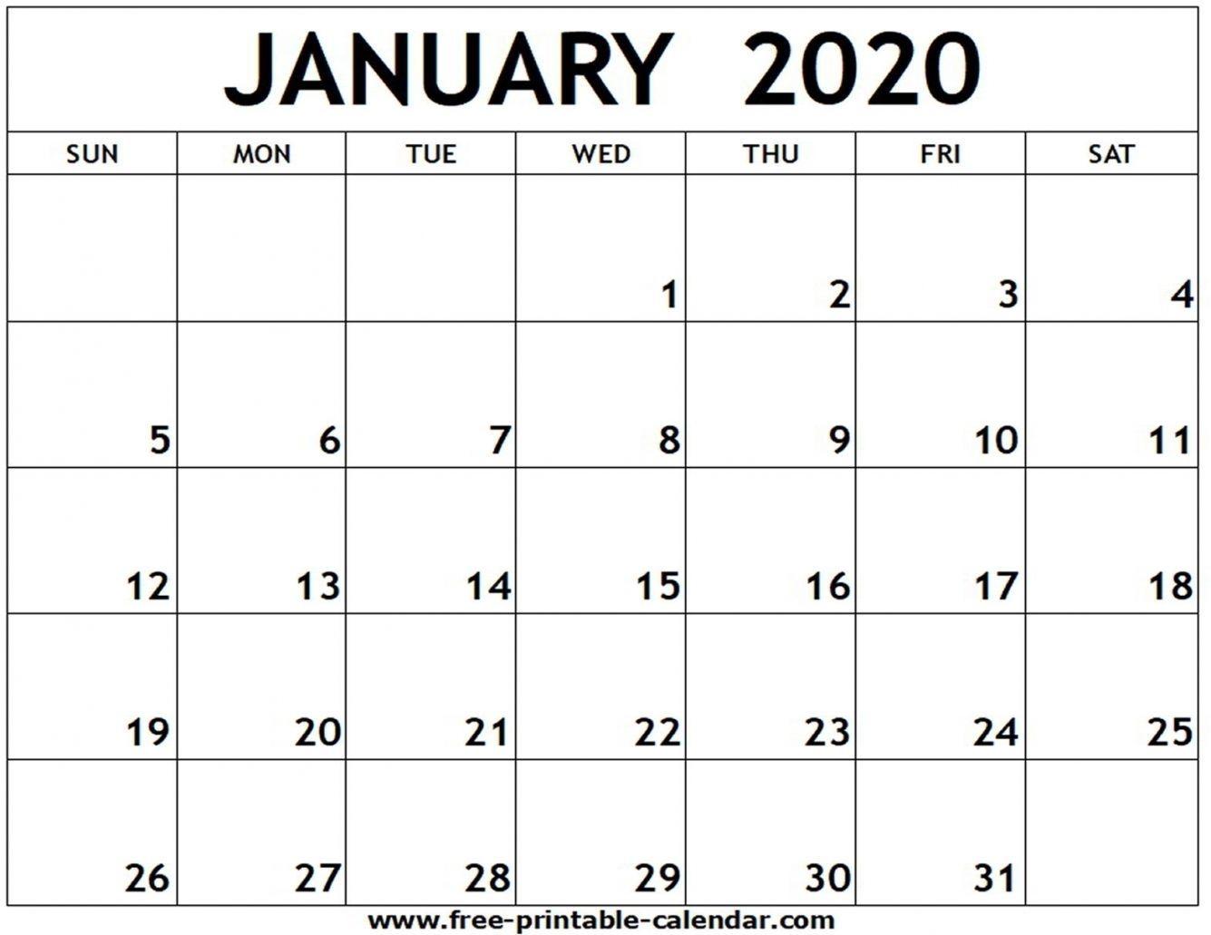 Printable Blank Calendar 2020 Di 2020 (Dengan Gambar)