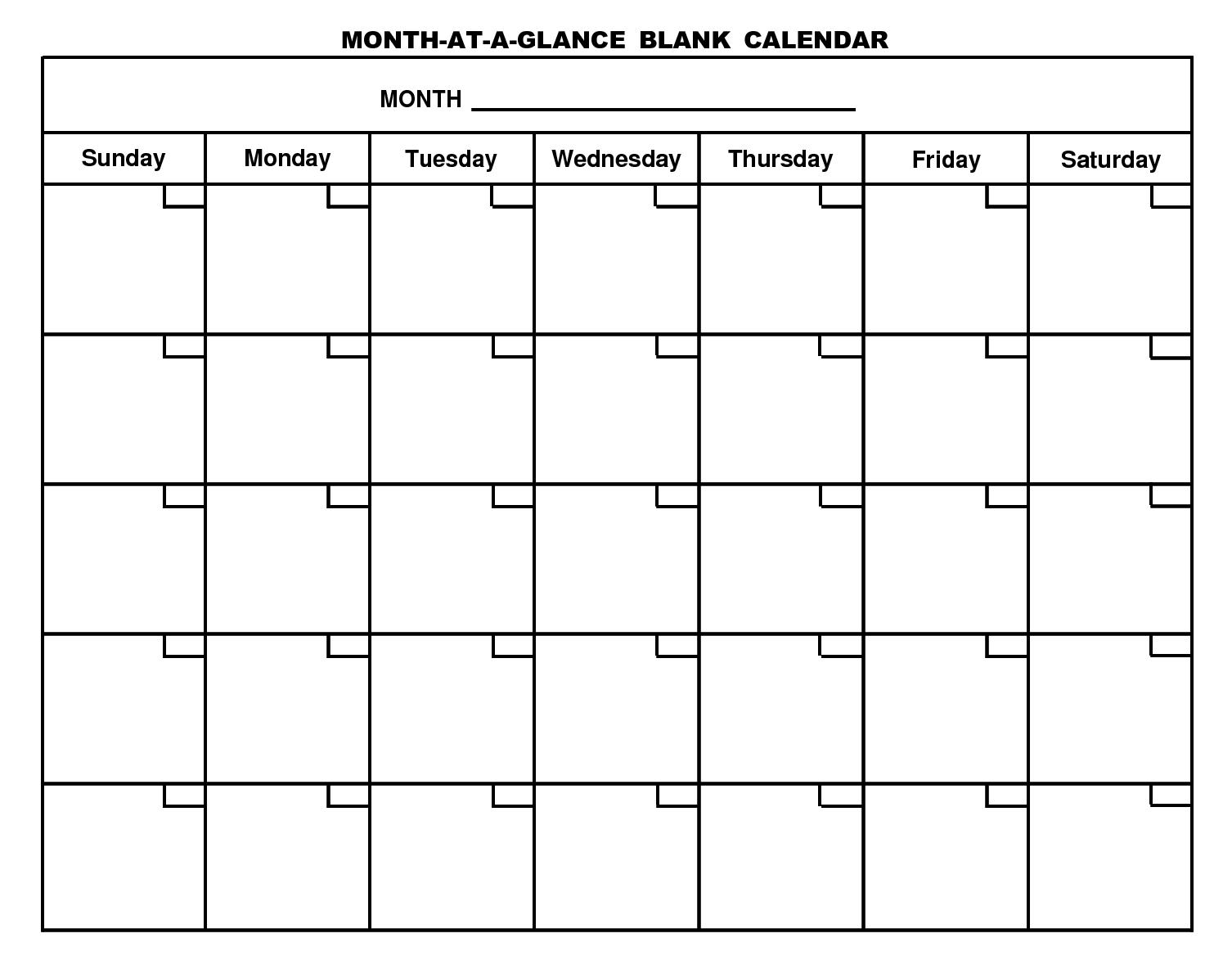 Printable Blank Calendar Template …   Free Calendar Template