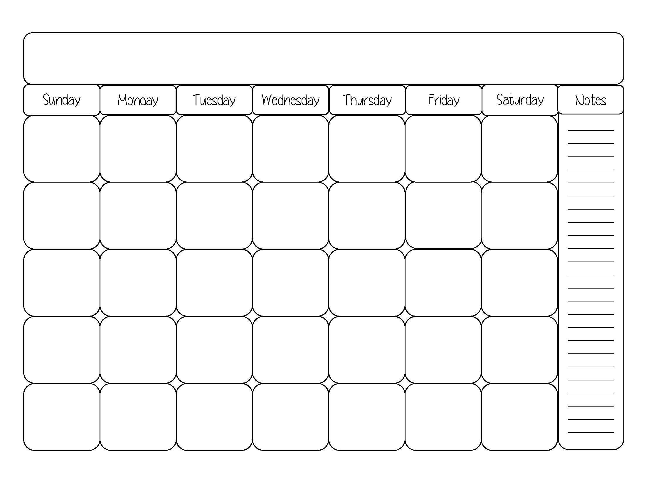 Printable Blank Calendar Template Word, Excel, Pdf