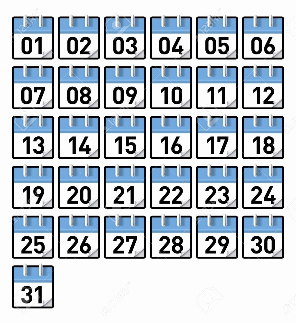 Printable Calendar Numbers January Calendar Numbers 1 31