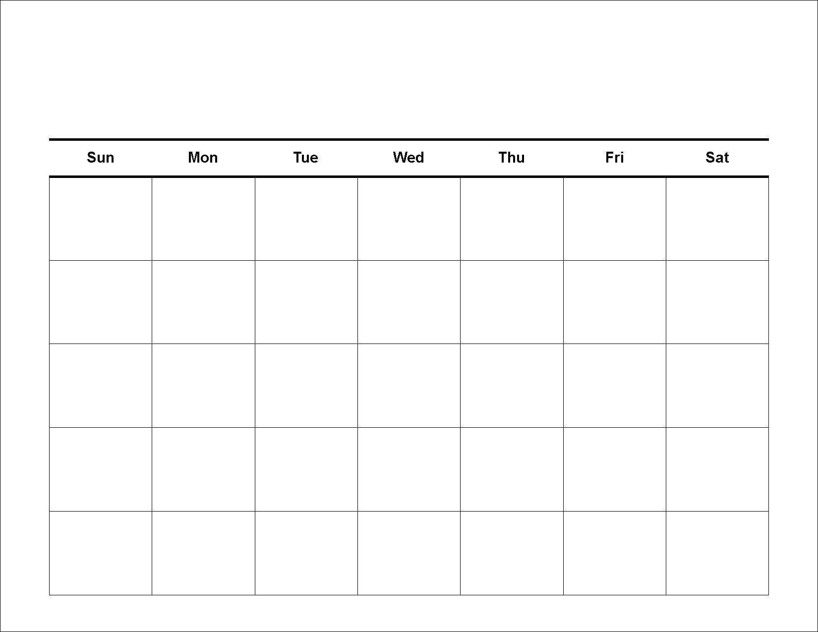 Printable Calendar Template   Create Custom Calendar