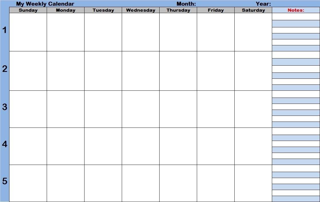 Printable Calendar With Time Slots - Calendar Inspiration Design