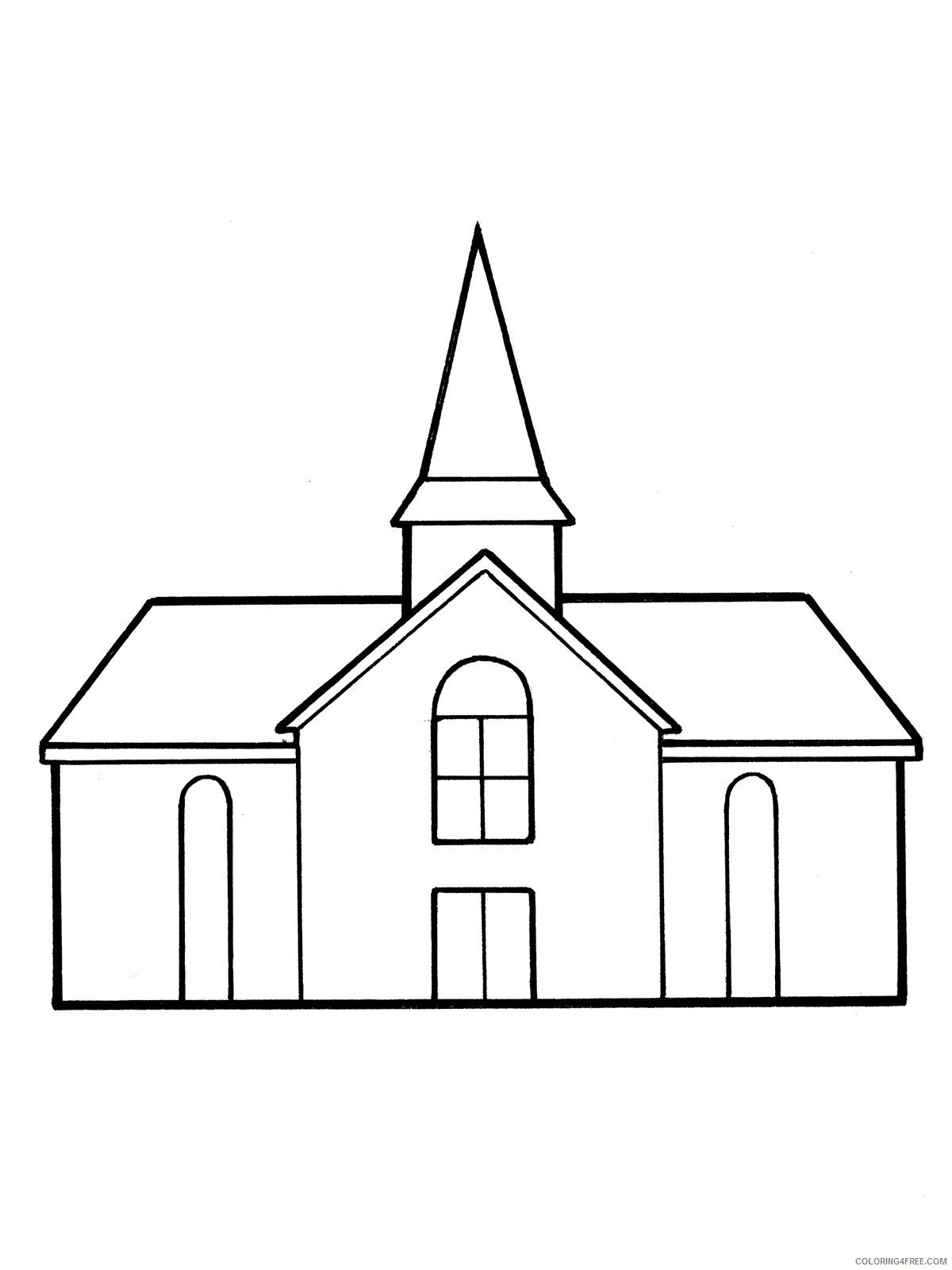 Printable Church Coloring Pages For Kids Coloring4Free