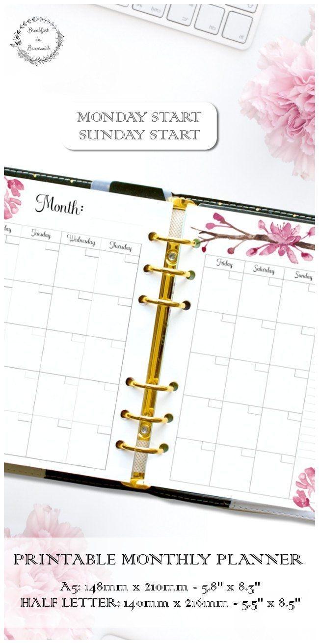 Printable Planner Kit, A5 Planner Bundle, Undated Ring