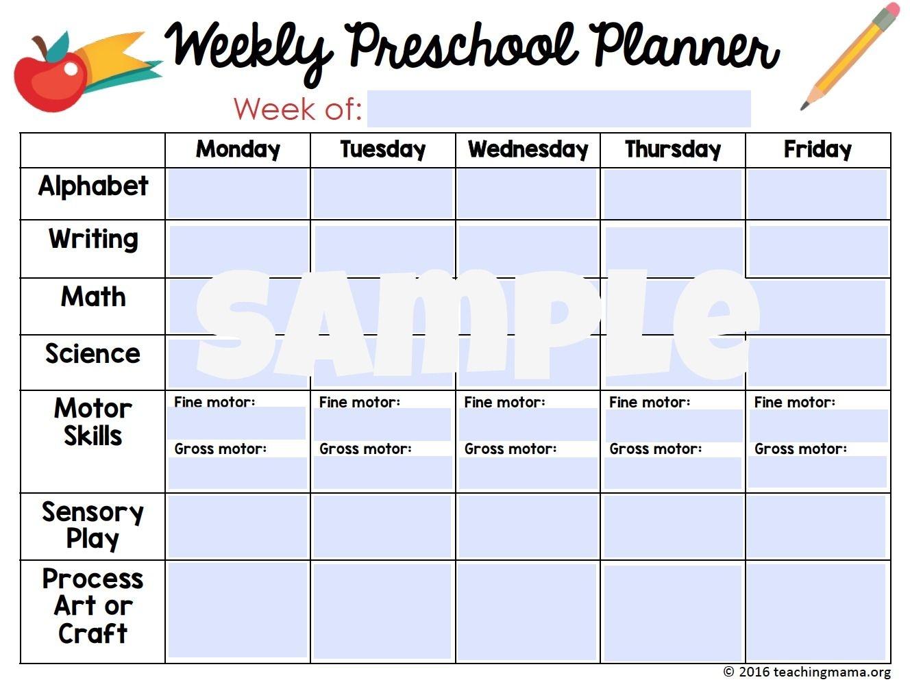 Printable Preschool Planner - On Sale Now! - Teaching Mama