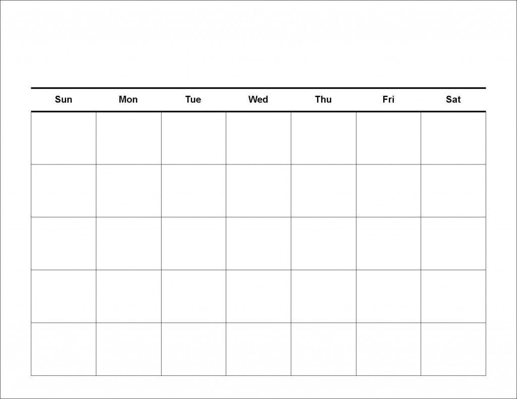 Printable Workout Calendar Blank | Printable Calendar Grid
