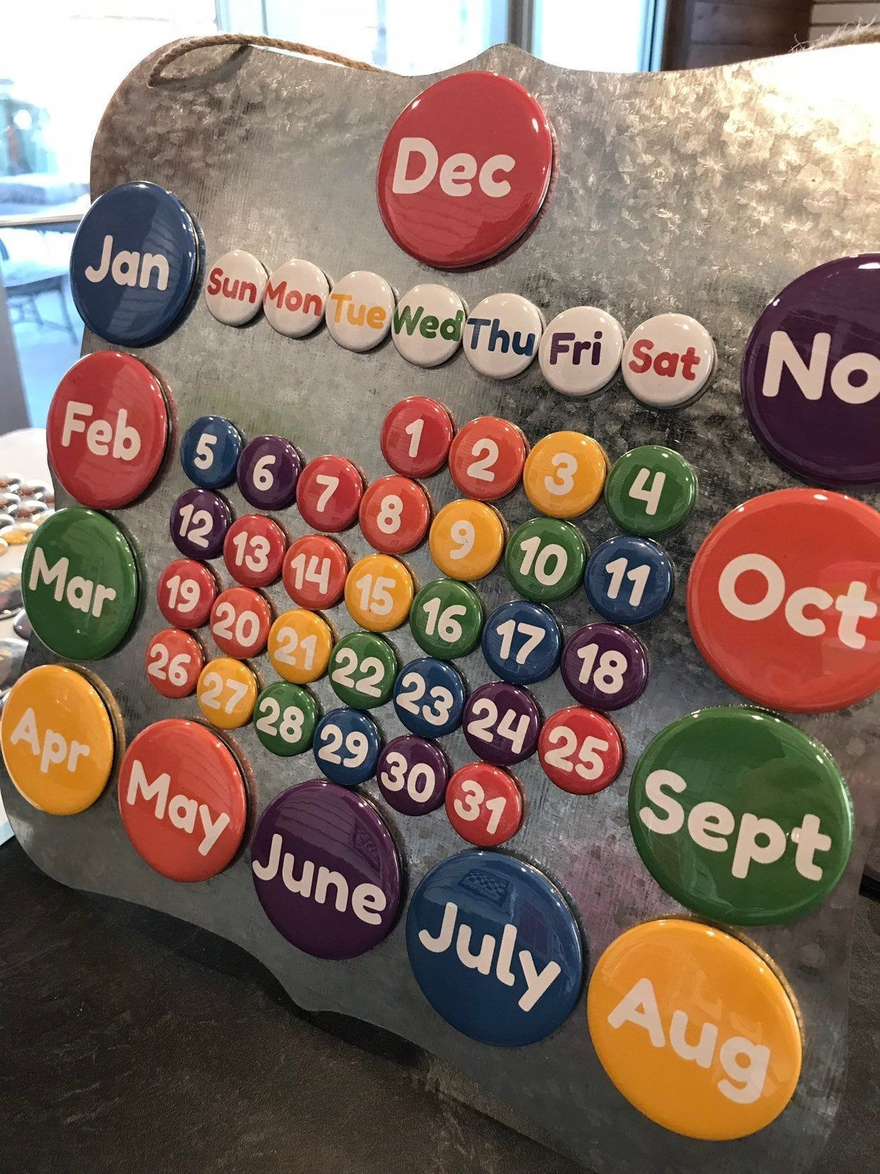 Rainbow Perpetual Calendar-Numbers 1-31-And Months-And