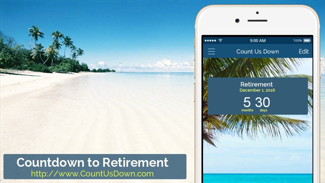 Retirement Countdown - App To Count Down The Days To Retirement