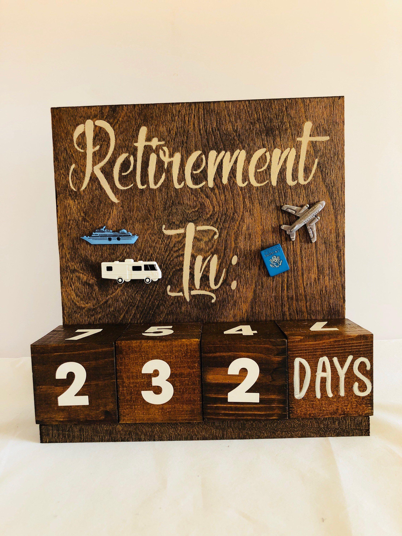 Retirement Countdown Calendar - Congratulations Gift
