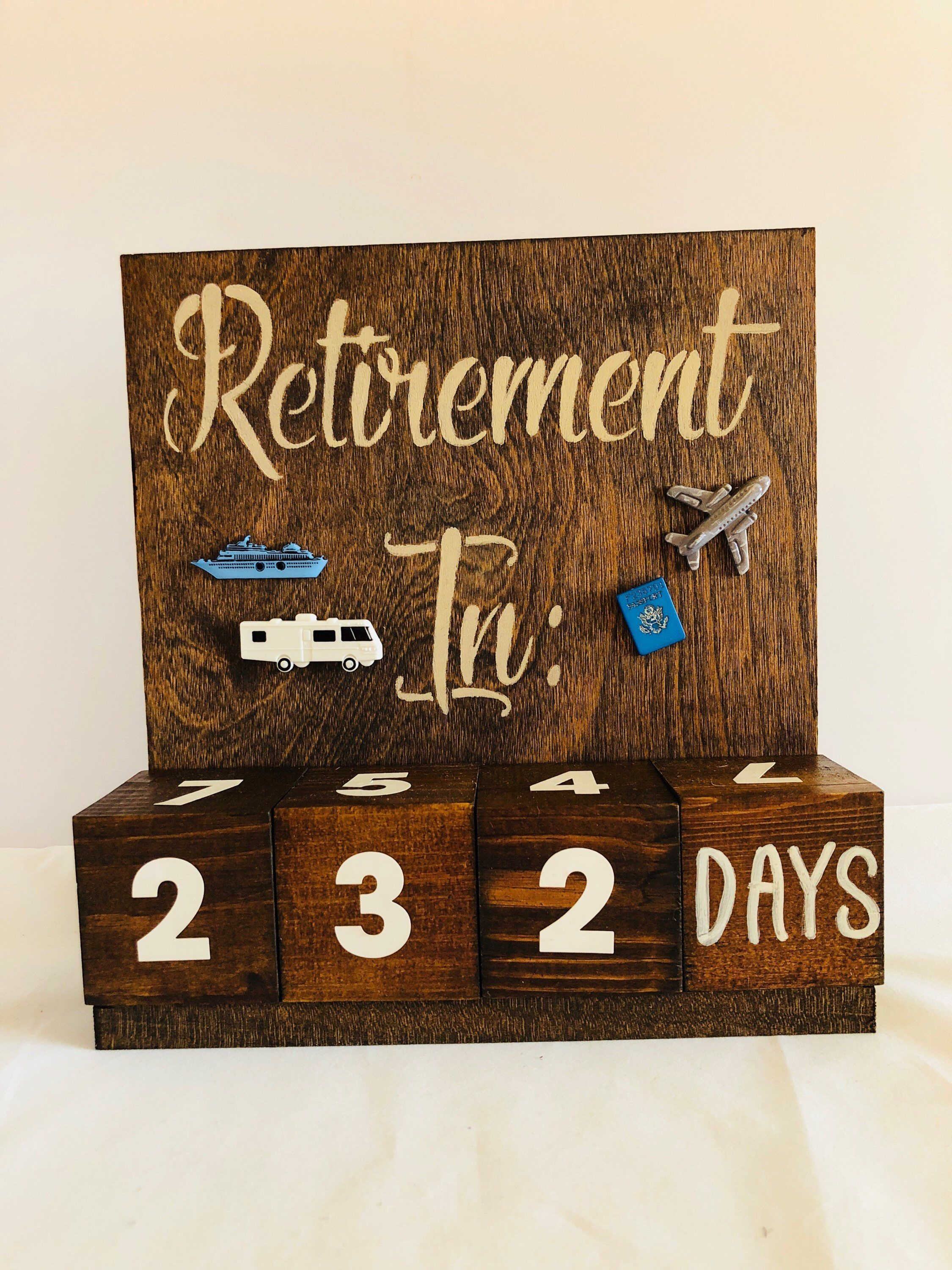 Retirement Countdown Calendar - Congratulations Gift