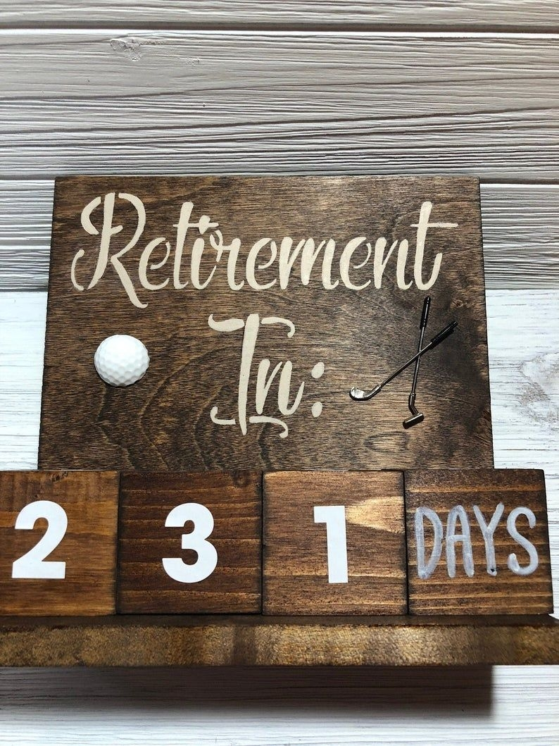 Retirement Countdown Calendar - Golf Lover Theme, Milestone Gift