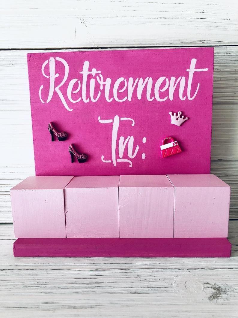 Retirement Days Until Block Countdown Calendar Bling Style!