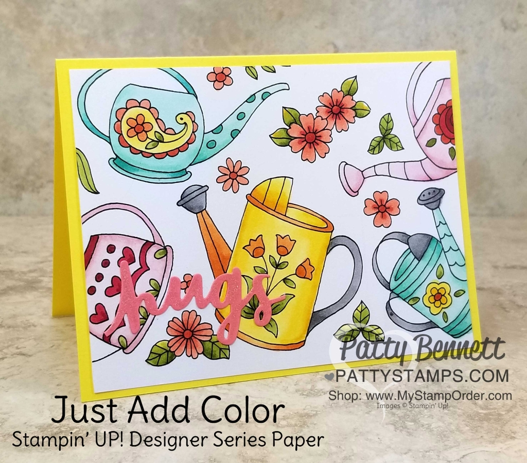 Retiring Just Add Color Designer Paper Card Ideas - Patty Stamps