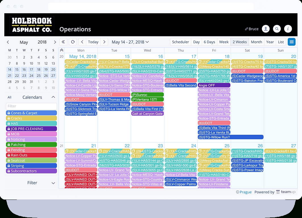 Schedule Work - Teamup Calendar - Shared Online Calendar For