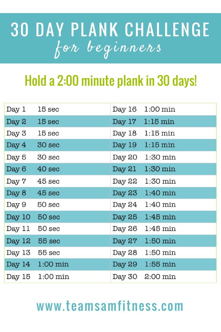 September 30 Day Plank Challenge – Teamsam Fitness
