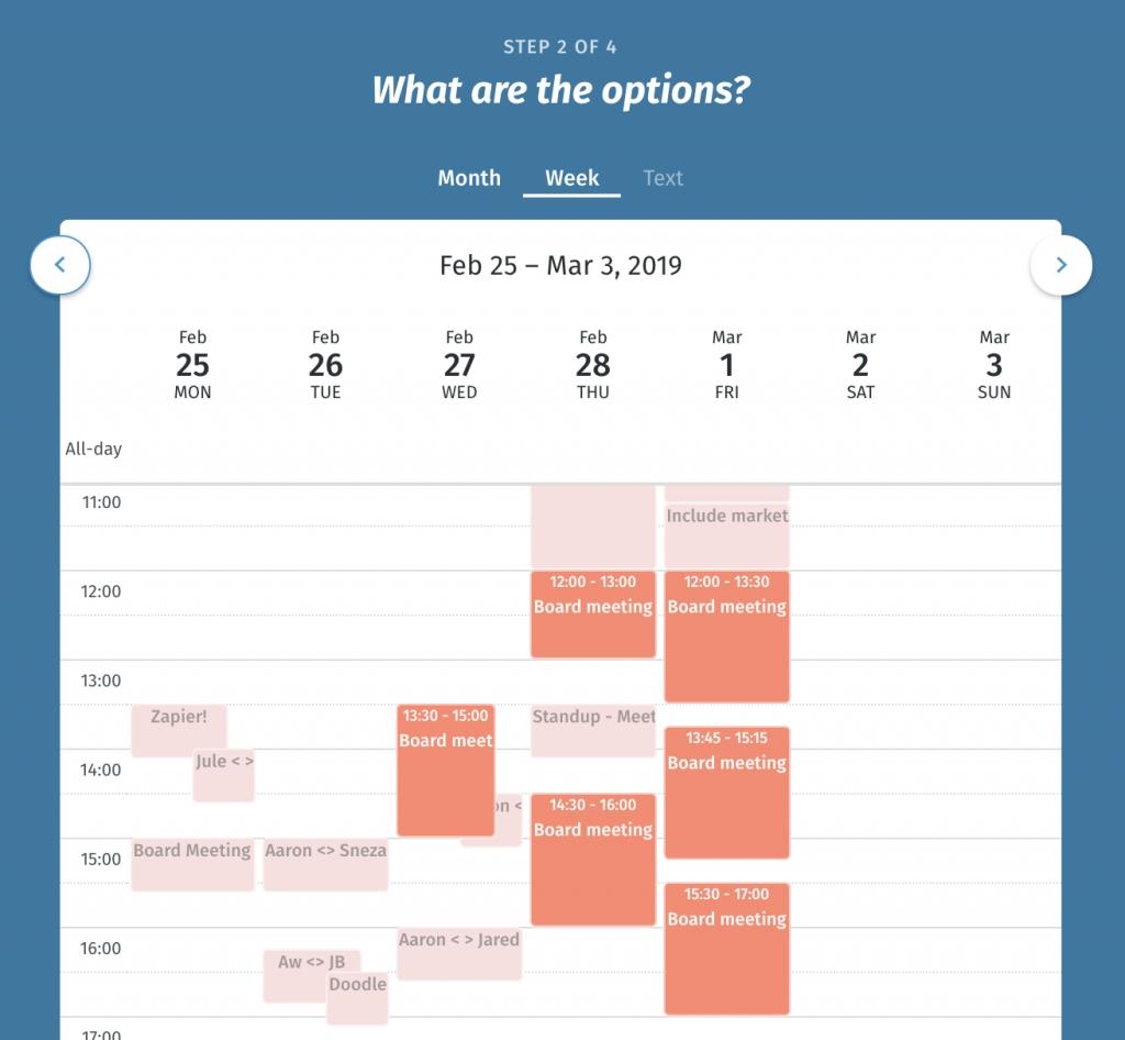 Shared Calendar - Easy Online   Doodle