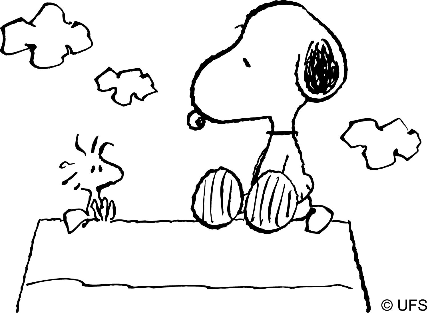 Snoopy #76 (Cartoons) – Printable Coloring Pages
