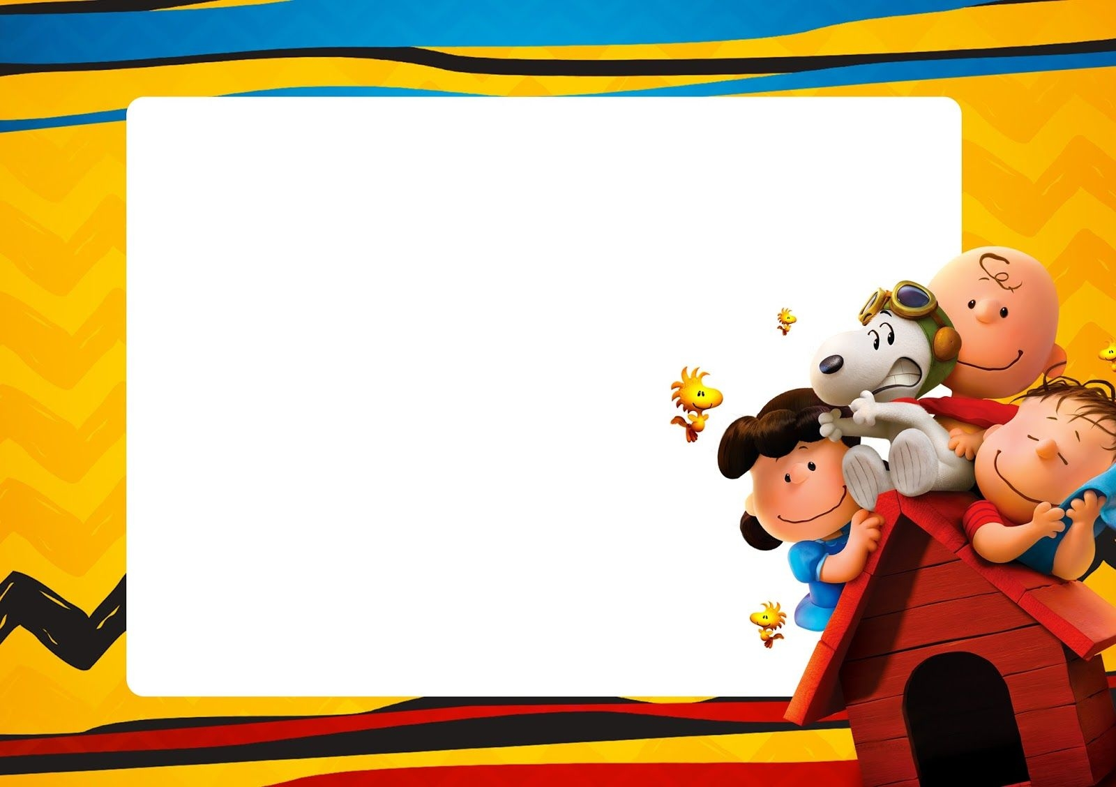 Snoopy And Charlie Brown: Free Printable Invitations. - Oh