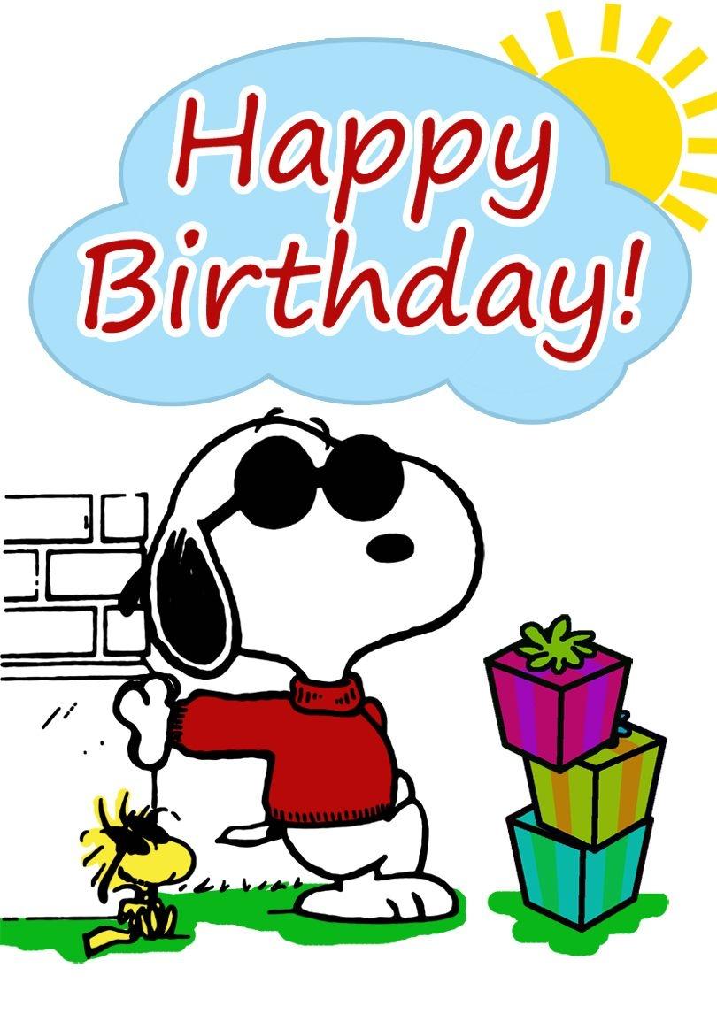 Snoopy Birthday Card | Free Printable Birthday Cards