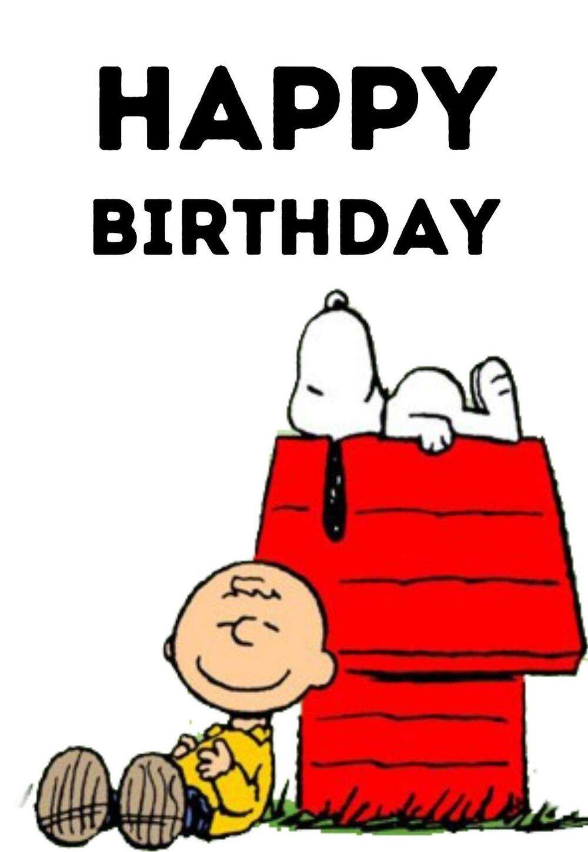 Snoopy Printable Birthday Cards — Printbirthday.cards