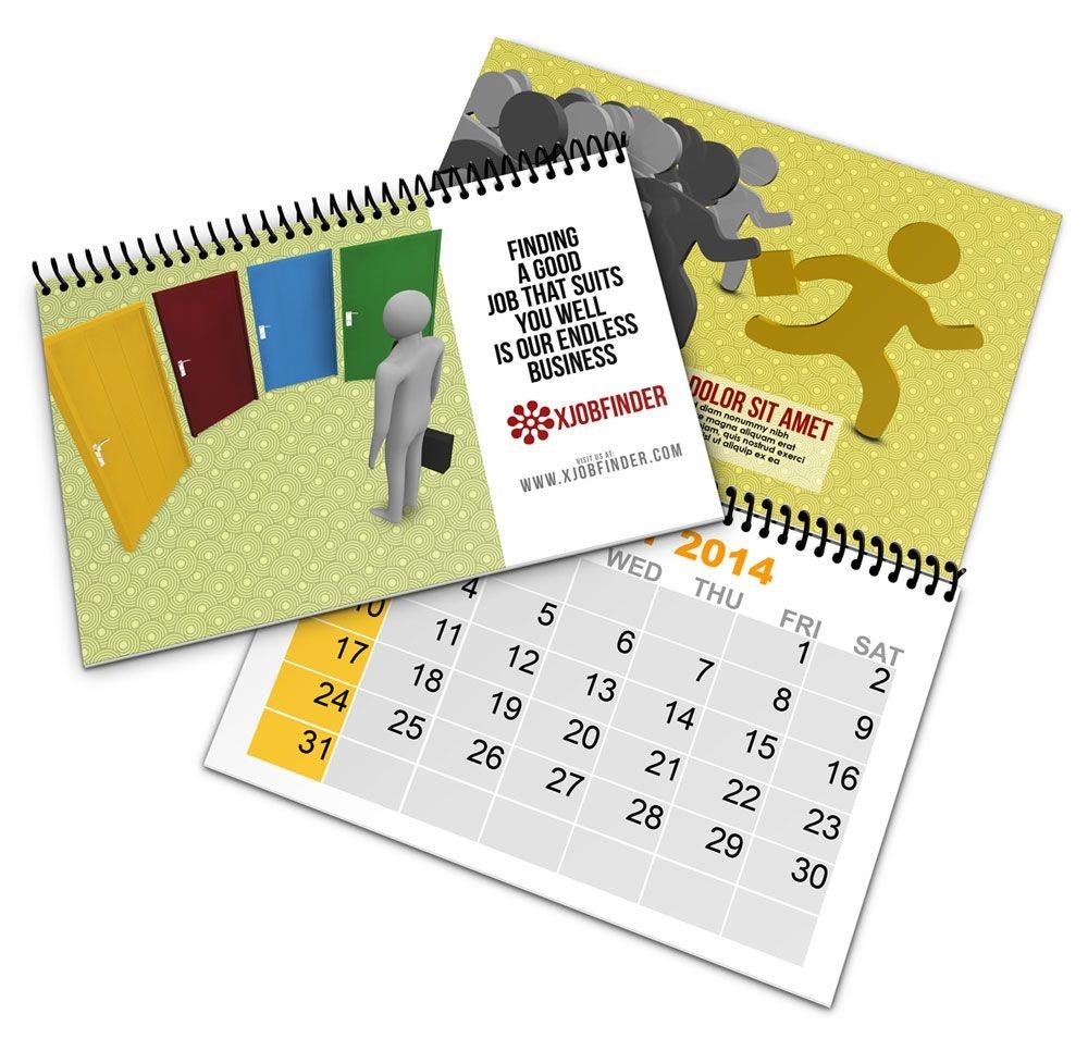 Spiral Bind Calendar Book Mock Up | Cover Actions Premium