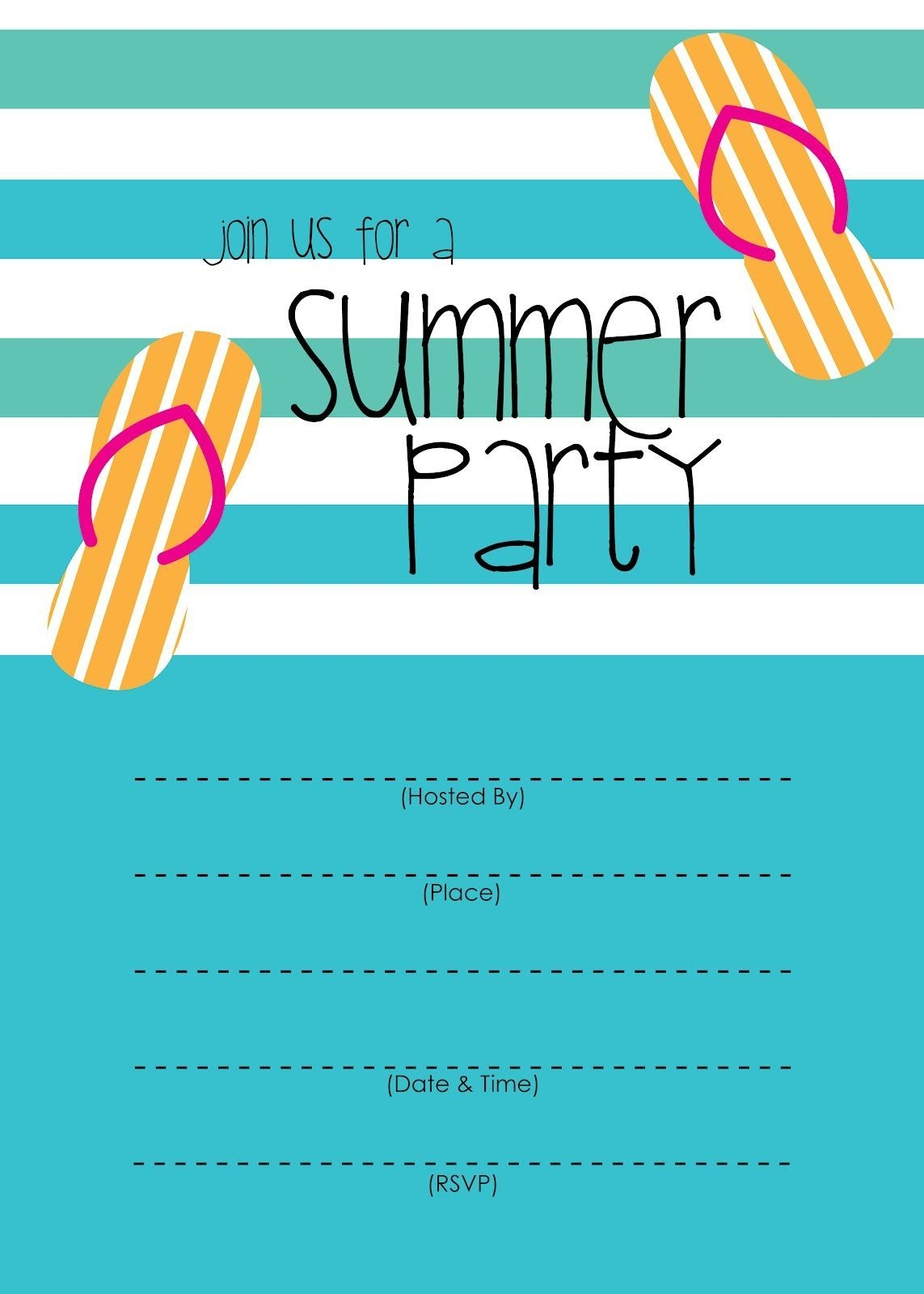 Summer Party Invitation – Free Printable (With Images