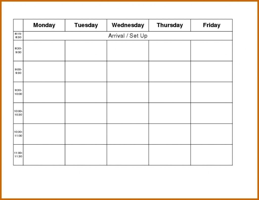 Sunday Through Saturday Calendar - Bance