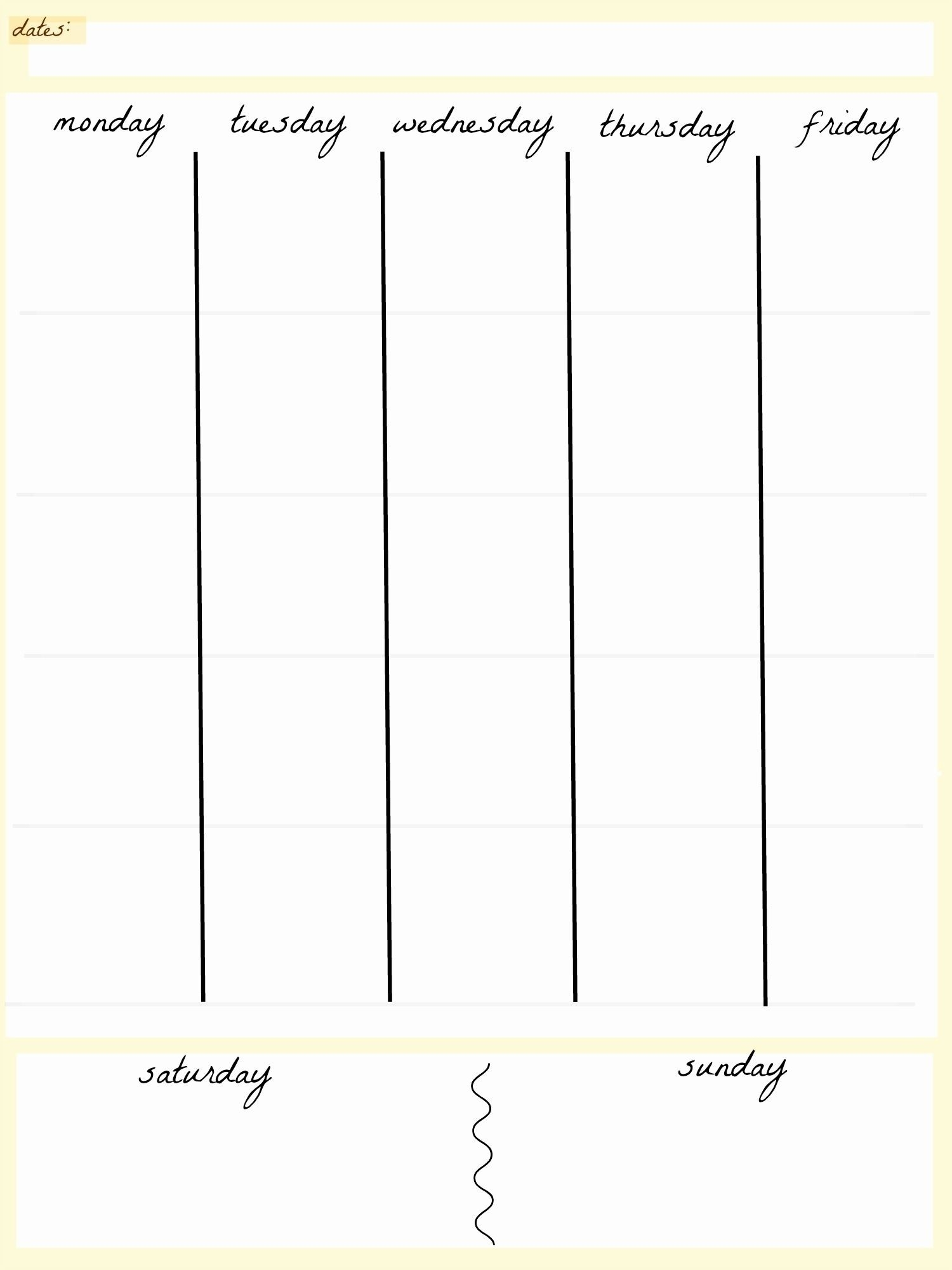 Take Blank 5 Day Calendar Printable (With Images) | Weekly
