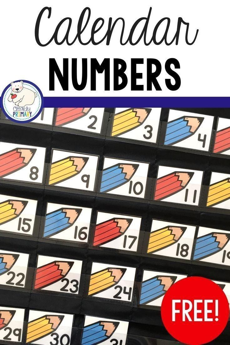 Take Printable Preschool Numbers 1 31 | Calendar Numbers