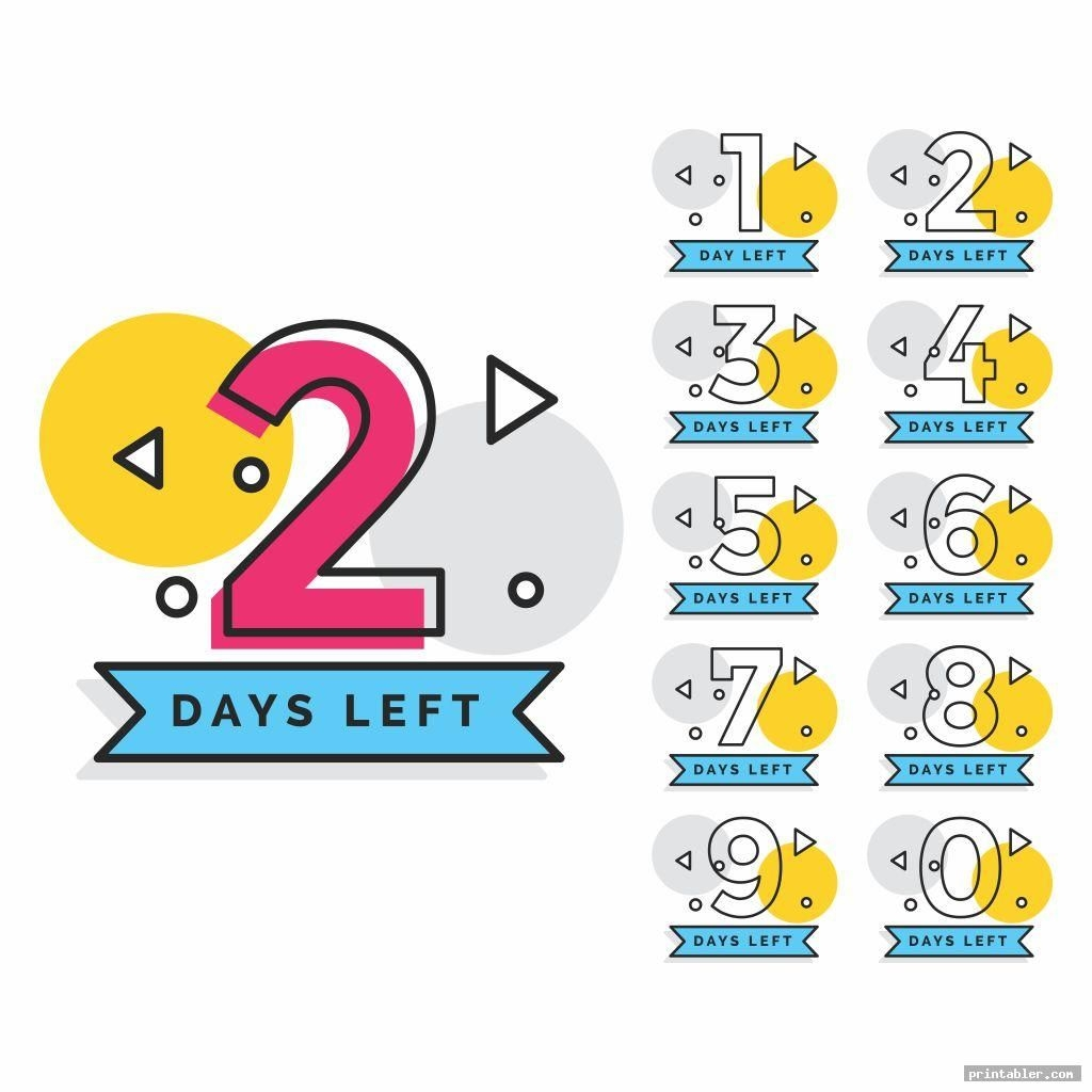 Tear Off Countdown Calendar Printable - Printabler