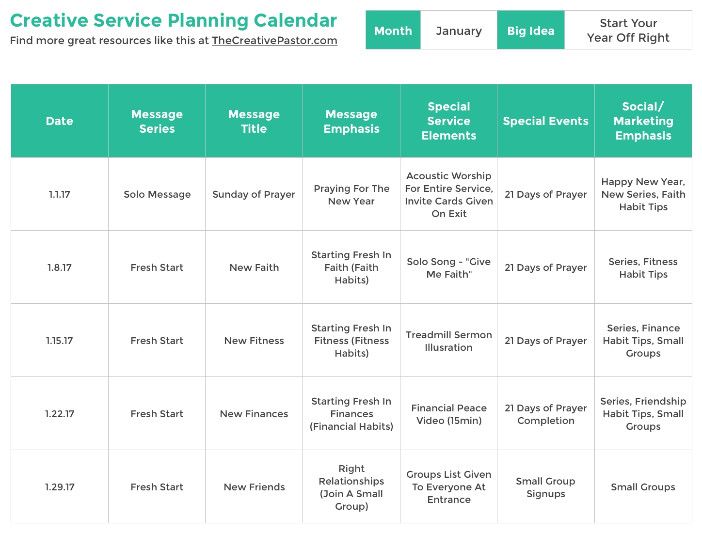 The Essential Planning Calendar Your Church Needs To Be