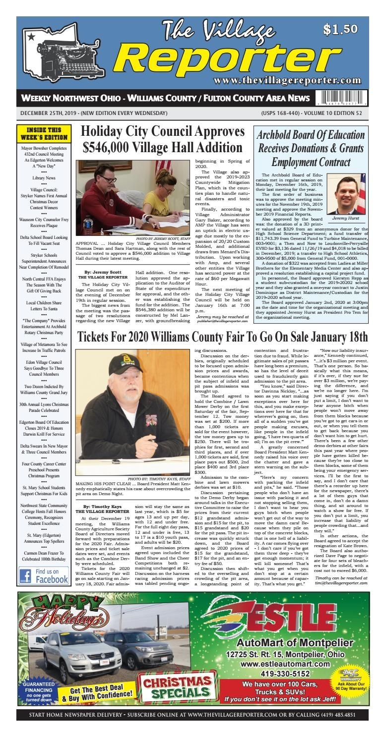 The Village Reporter - December 25Th, 2019 By
