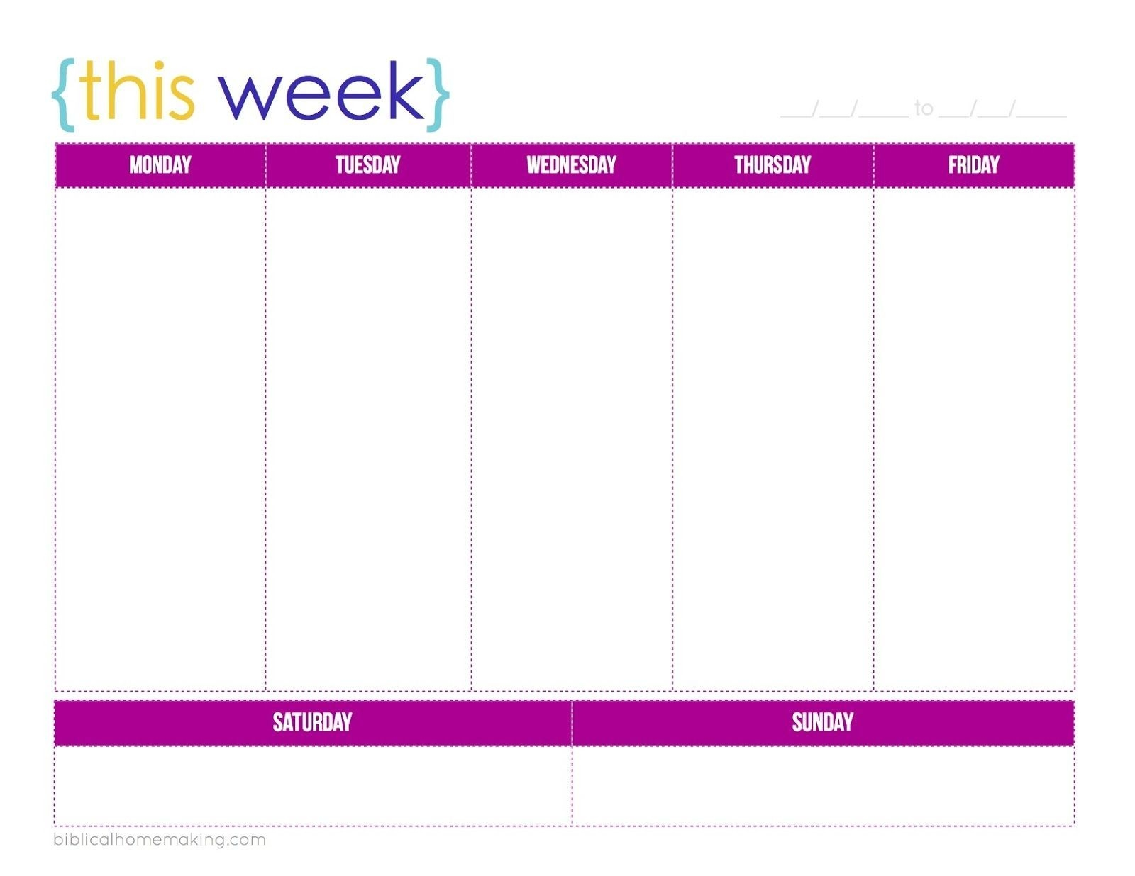 This Week A Free Weekly Planner Printable Biblical