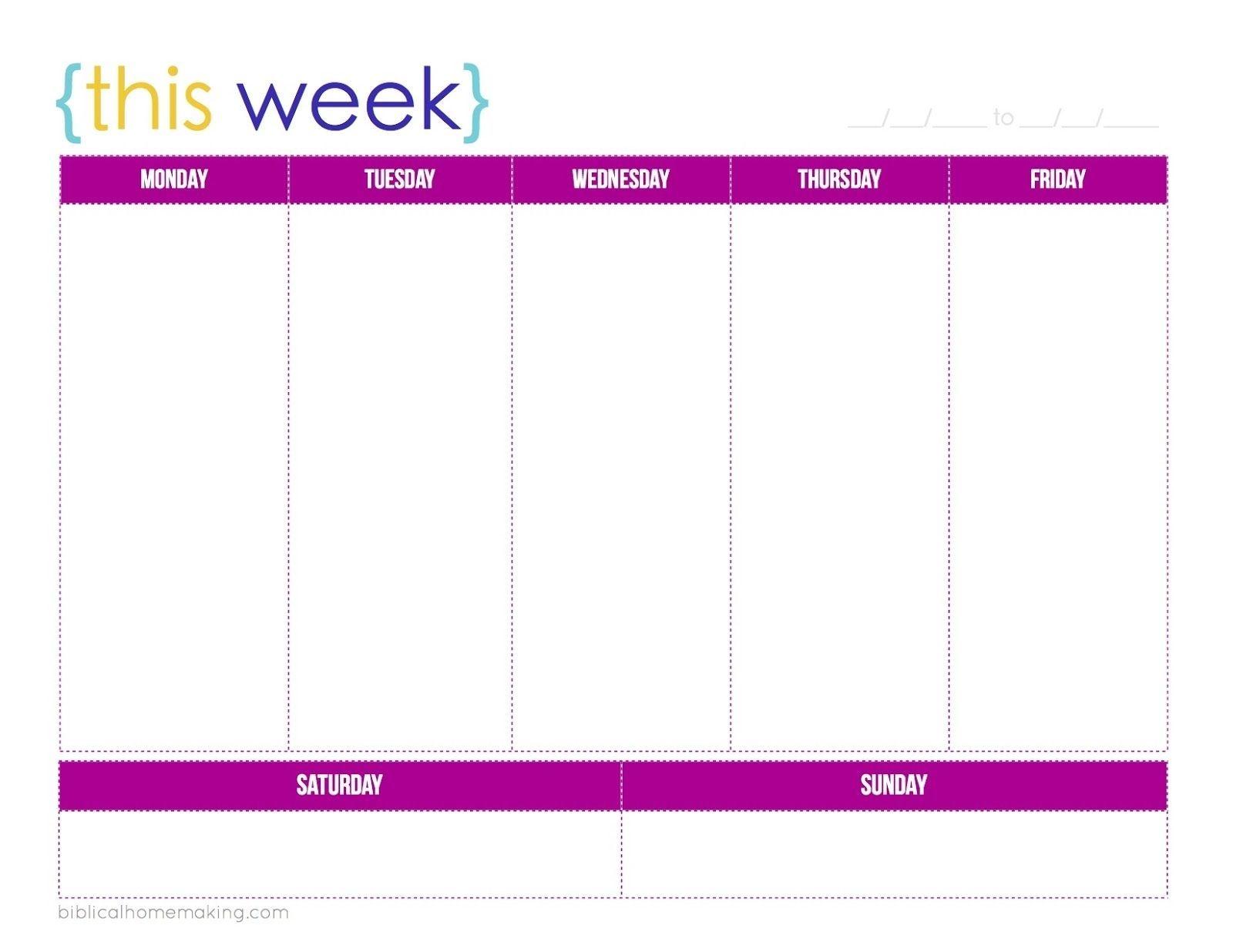 This Week A Free Weekly Planner Printable Biblical
