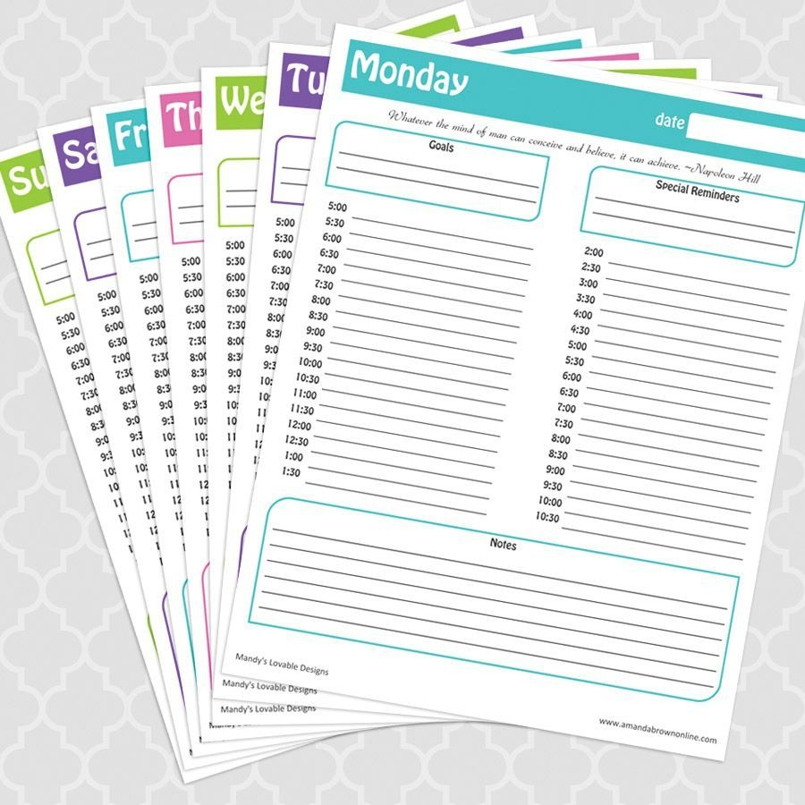 Time Management Under Control + Free Printable Daily