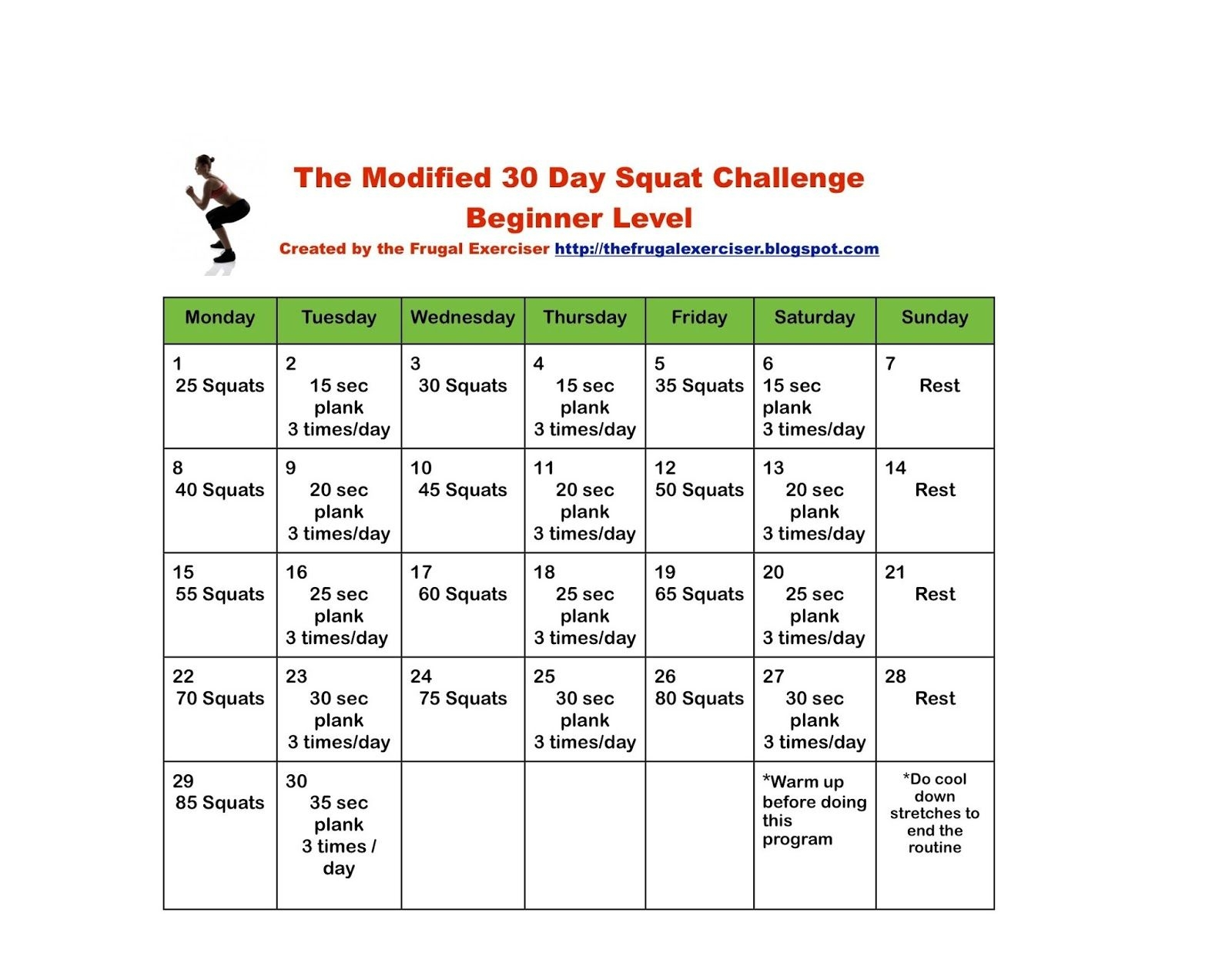 Title>The 30 Day Squat Challenge For Beginners | The Frugal