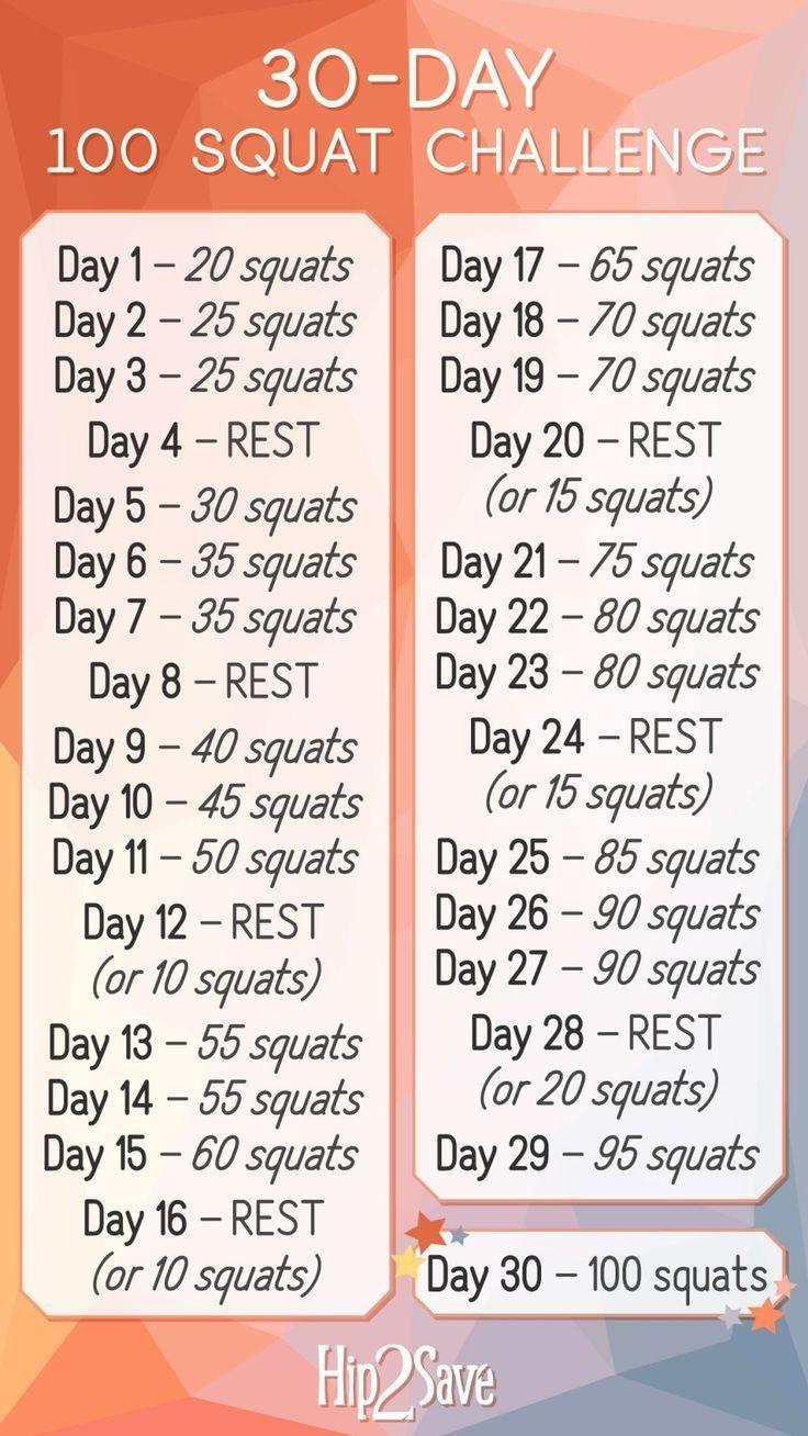 Unsere 30-Tage-100-Squat-Challenge Ist Da (Kostenlos