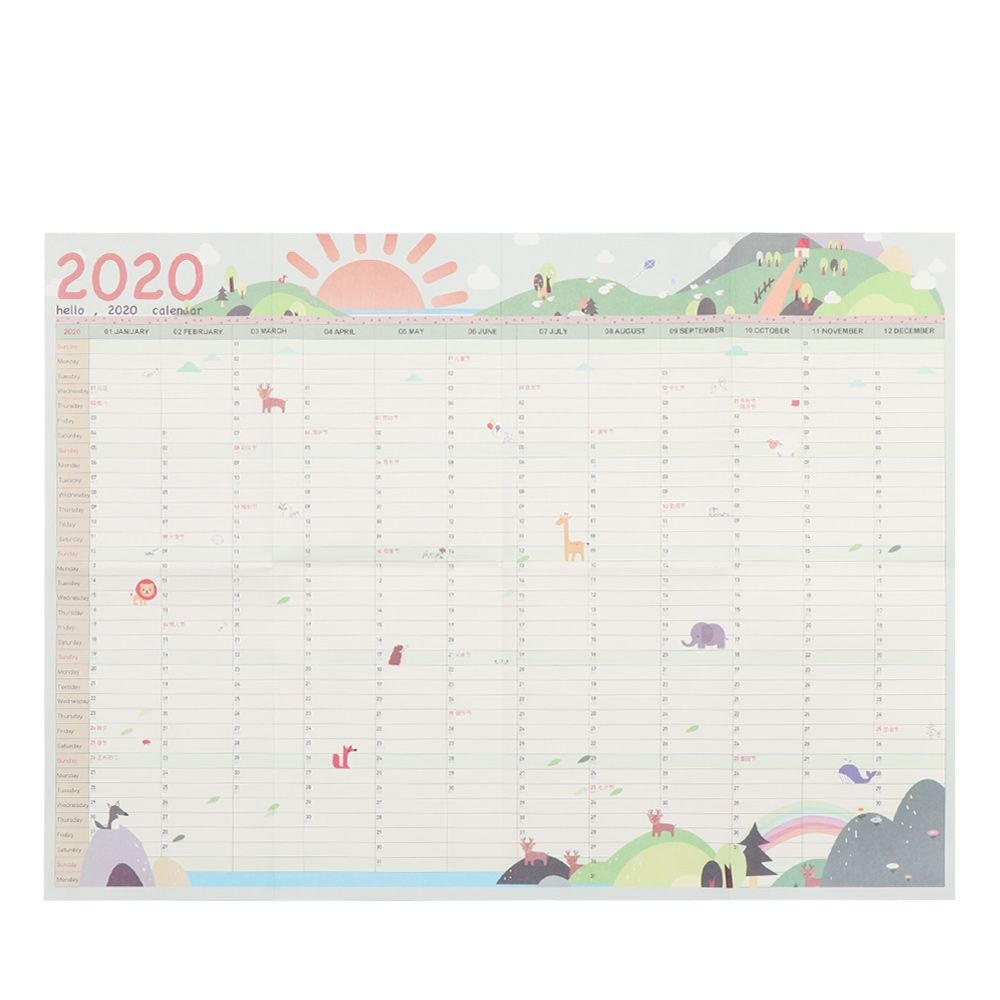 Us $0.87 20% Off|2020 Calendar Wall Calendar 365 Days Countdown Diary  Calendar Study New Year Plan Schedule Wall Calendar|Calendar| - Aliexpress