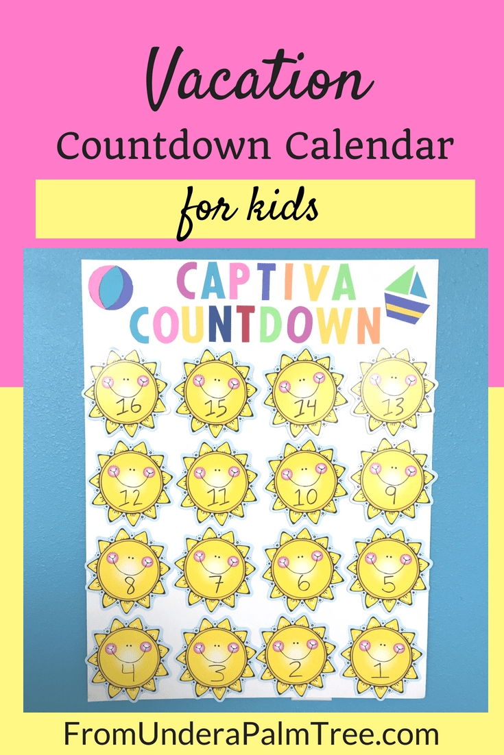 Vacation Countdown Calendar For Kids | Kids Calendar