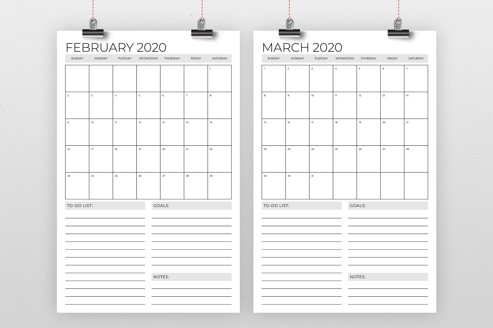 Vertical 11 X 17 Inch 2020 Calendar Template By Running With