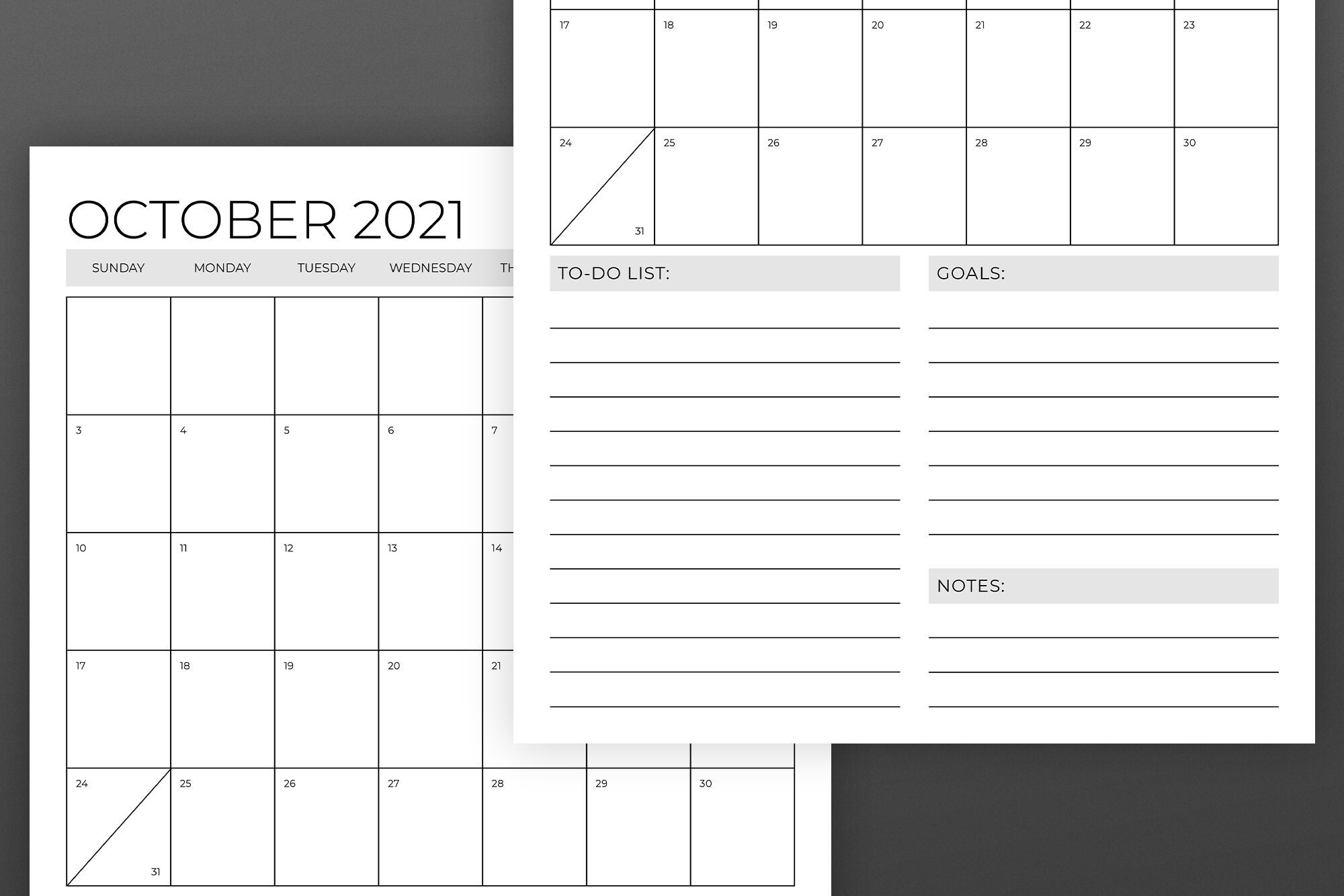 Vertical 11 X 17 Inch 2021 Calendar By Running With Foxes