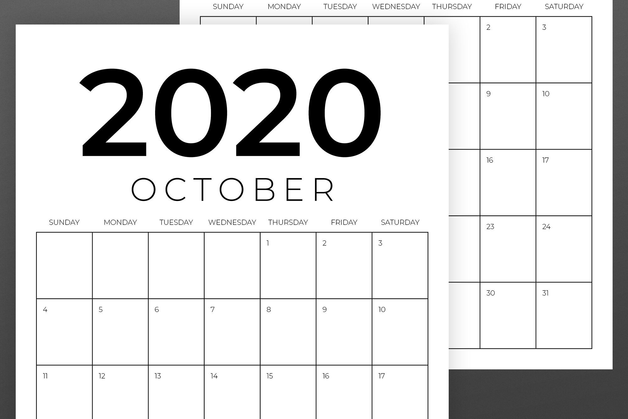 Vertical 8.5 X 11 Inch 2020 Calendar By Running With Foxes