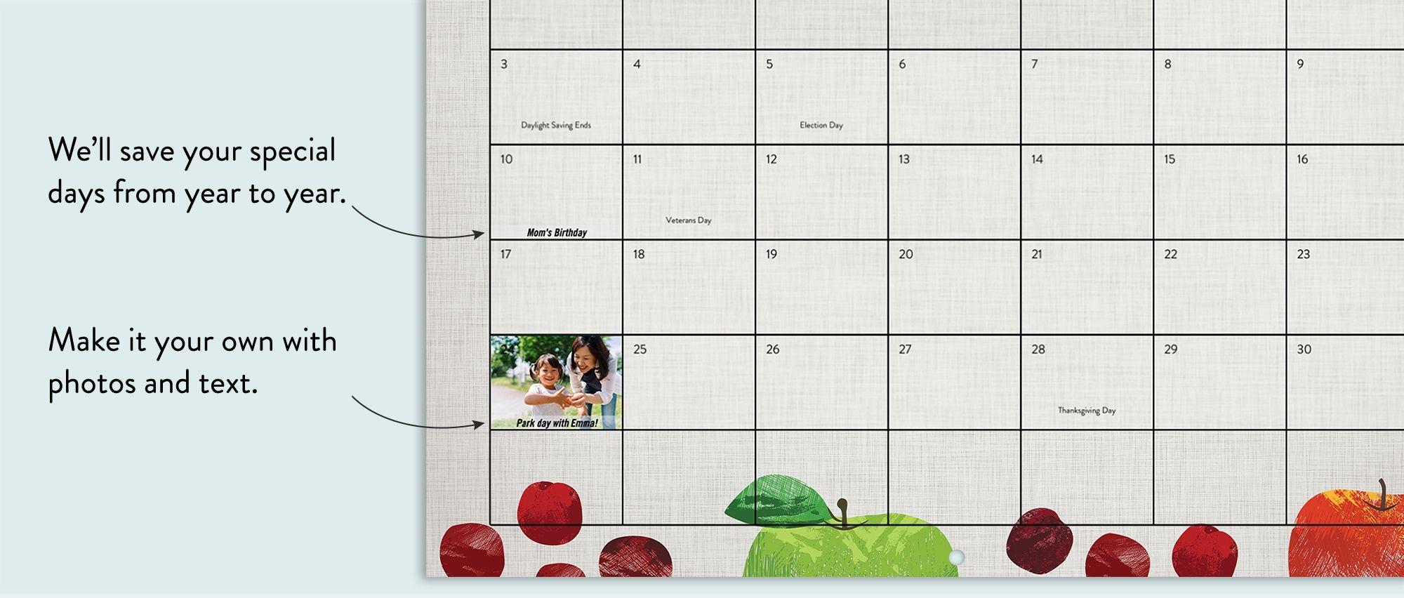 Wall Photo Calendar