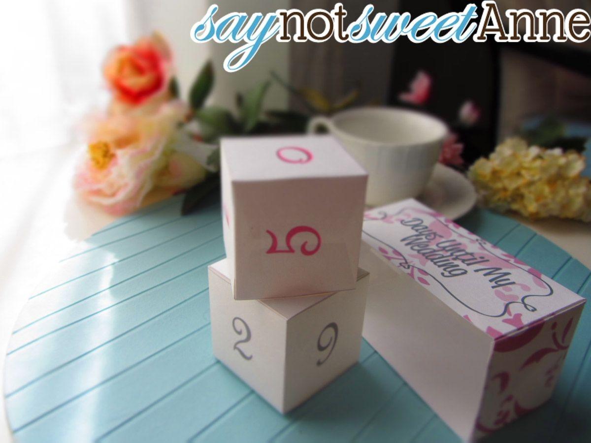 Wedding Countdown [Free Printable] - Sweet Anne Designs