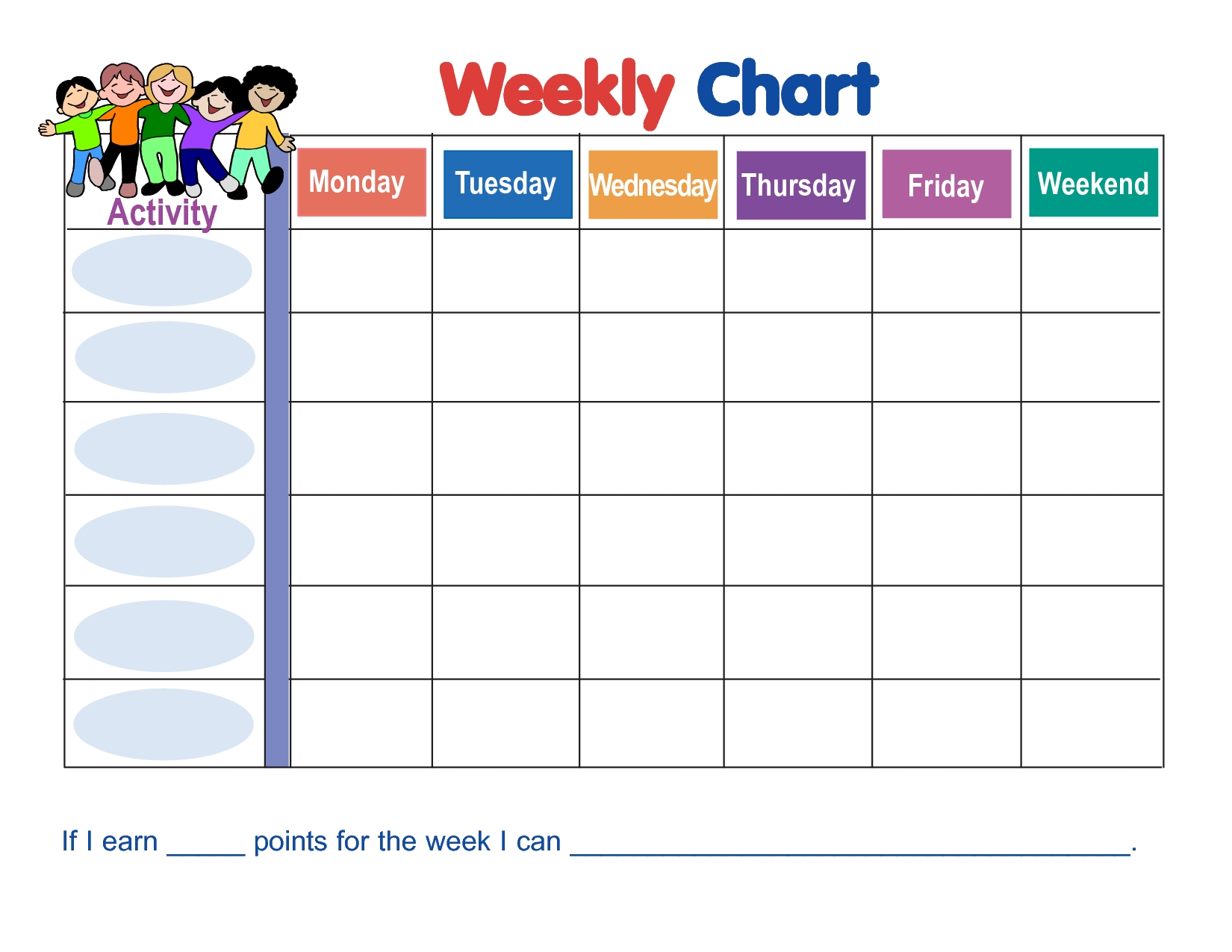 Weekly Behavior Chart Template (With Images) | Behavior